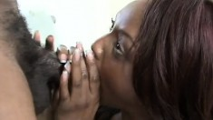Hot ebony hooker Jada Fire enjoys some pussy drilling with Mr. Marcus