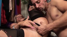 Voluptuous mature MILF Joanna Depp gets it deep from her man Sly