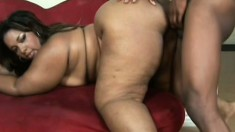 Chubby black mother gets a real rough pounding in hardcore session