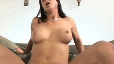Lusty lady is eager for more after her first experience with dark meat