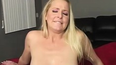 Blond whore fuck big black dude